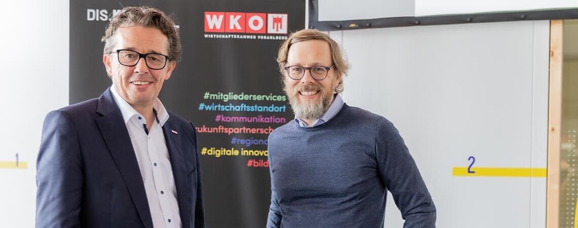 Hans Peter Metzler mit Peter Borchers
